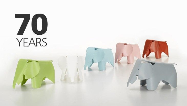 Happy 70 birthday, Vitra Elephant! - Elephant, the iconic stool of Charles and Ray Eames produced by Vitra, turns 70! Discover with us the story of this piece of design loved by children. Read more on our magazine!