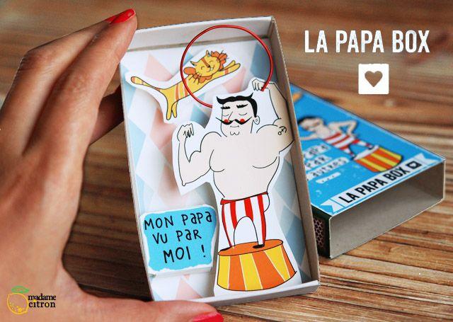 DIY Fête des pères : la Papa box imprimable