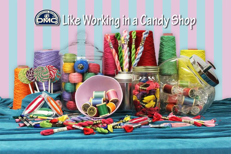 Its like working at a candy shop! Emma Broidery for DMC http://dmc-threads.com/
