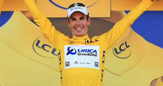 Daryl Impey finished five seconds ahead of previous leader Simon Gerrans and takes the yellow jersey in stage 6!