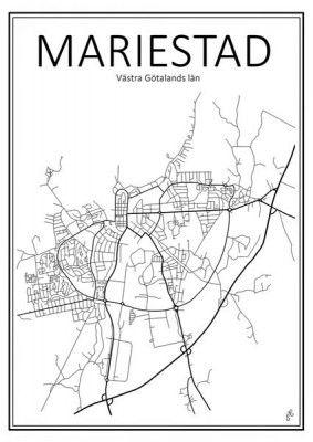 Poster+-+Stadskarta+Mariestad