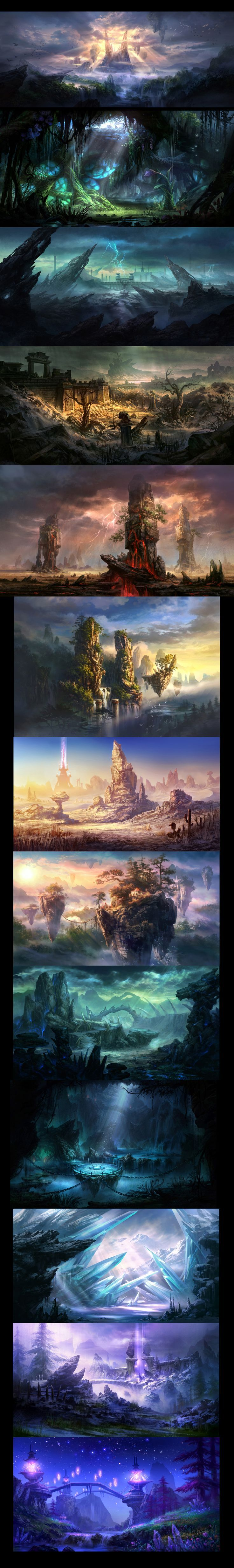 Some scenes fighting Ares original paintings and objects design, painting scenes of the original painting sister, hope more exchanges! - 2D original works - (original painting, illustration, colleagues merged) - original painting human CG Artists Mehr