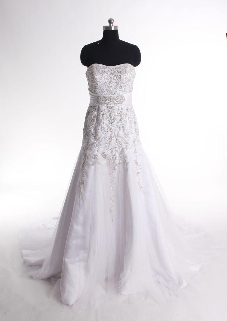 Sweetheart trumpet mermaid net bridal gown
