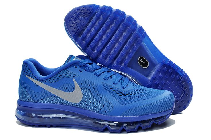 Cheap Nike Air Max 2014 Royal Blue Silver Men's Running Shoes #blue #shoes More style news, suit reviews, tips & tricks and coupons at www.indochino-review.com #IndochinoReview