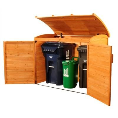 I want this > Garbage Can Storage Shed