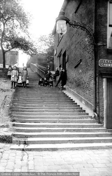 Rochdale, Church Steps 1913, from Francis Frith