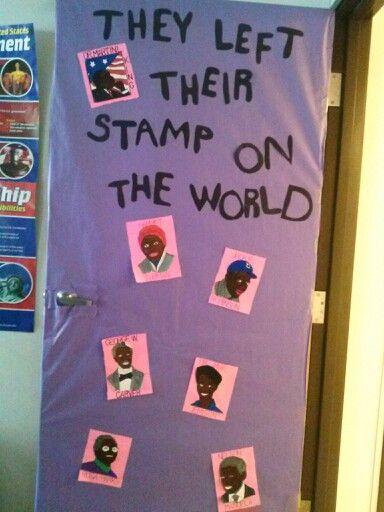 Classroom Door Decoration Ideas For Black History Month ~ Black history door decor