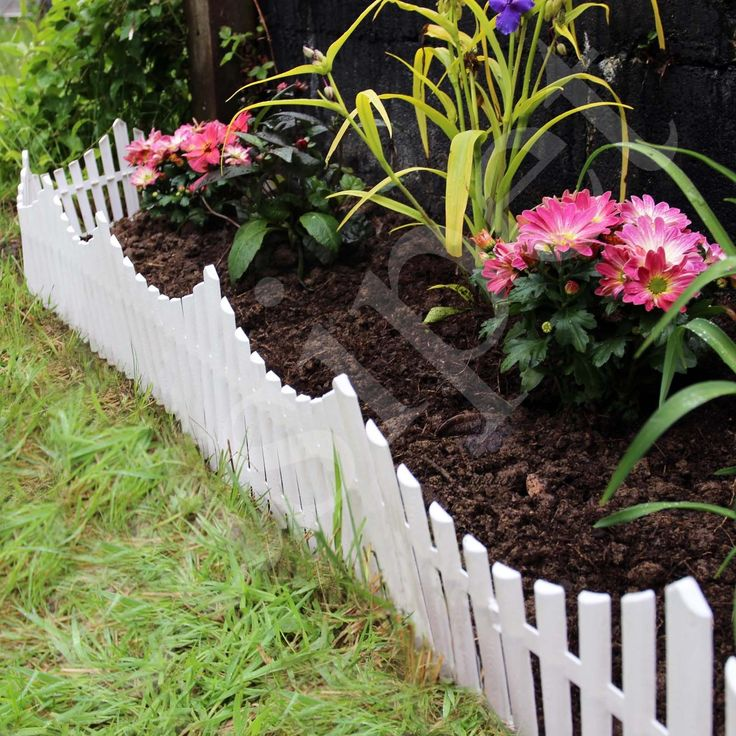 6 white flexible #plastic garden #picket fence lawn grass edge #edging border 3.6,  View more on the LINK: http://www.zeppy.io/product/gb/2/401111109465/