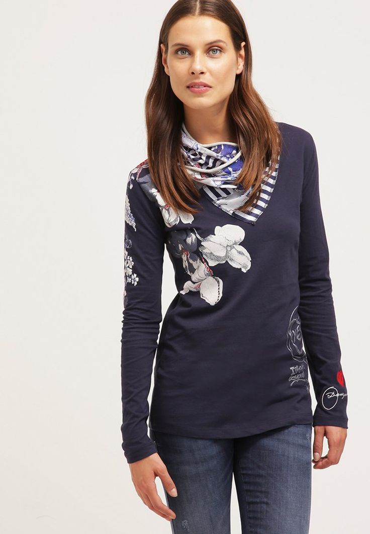 Desigual LAURA T-shirt à manches longues navy prix promo T-Shirt femme Zalando 70.00 €