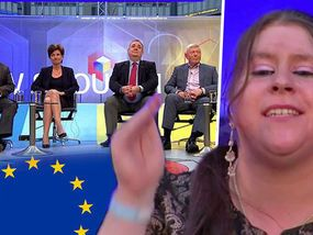 A FURIOUS woman whose disabled mother cannot get a bungalow because immigrants have been bumped up the social housing list clashed with stunned Europhile MPs during the first Brexit TV debate last night.