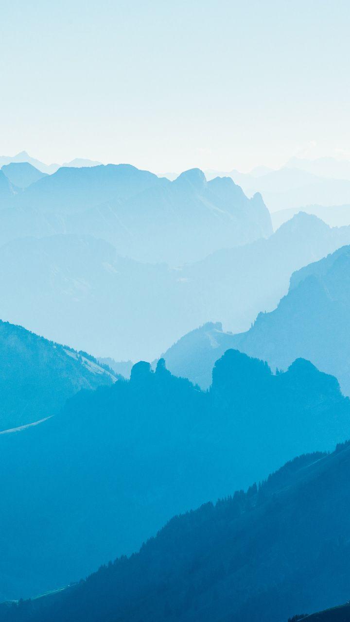 Fog Horizon Blue Mountains Nature 720x1280 Wallpaper Iphone 5 Wallpaper Hd Phone Wallpapers Wallpaper