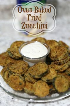 How to Make Oven Baked Fried Zucchini is the perfect side dish.  Healthier than traditional fried zucchini with the same great taste AD #jbbb