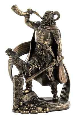 HEIMDALL - Norse God Viking Mythology Statue Figure Bronze