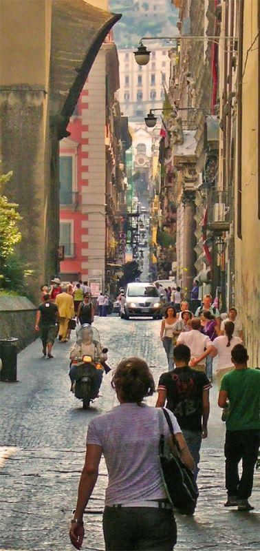 Spaccanapoli in Napoli, Italia