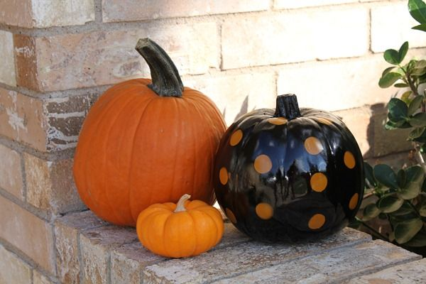 How To Make A Polka Dot Pumpkin: Halloween Parties, Polka Dots, Tracy Trinket, Fall Crafts, Dots Pumpkin, Holidays Halloween, Halloween Fall Thanksgiving, Halloween Fal Ideas, How To