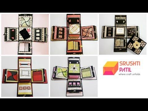 5 Different Color Explosion Box Designs by Srushti Patil -- she has other video tutorials for all the elements
