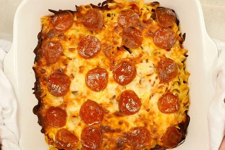 For easy dinner recipes that will please the whole family, try Mama's Pizza Casserole! This casserole dinner recipe can be customized to include your favorite pizza toppings. Add in what you like best to make it your own special recipe.