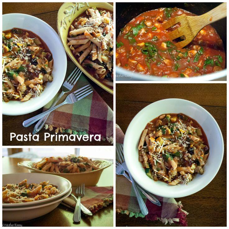 Pasta Primavera with Zucchini, Mushrooms and Chard http://motherrimmy.com/recipe-pasta-primavera/ #recipes #pasta #zucchini #chard