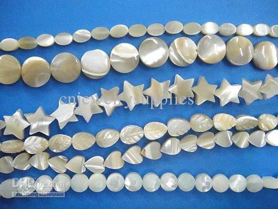 Sqaure Boxl Cream White Natural Mother of Pearl Shell Pendants 15x15mm --2strands Online with $18.38/Piece on Cnjewelrysupplies's Store | DHgate.com