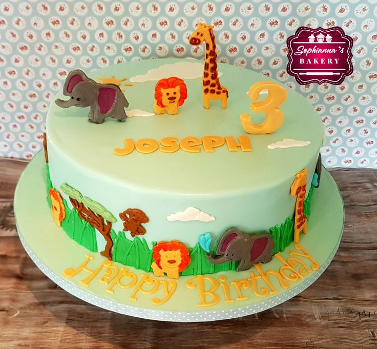 Safari-themed cake