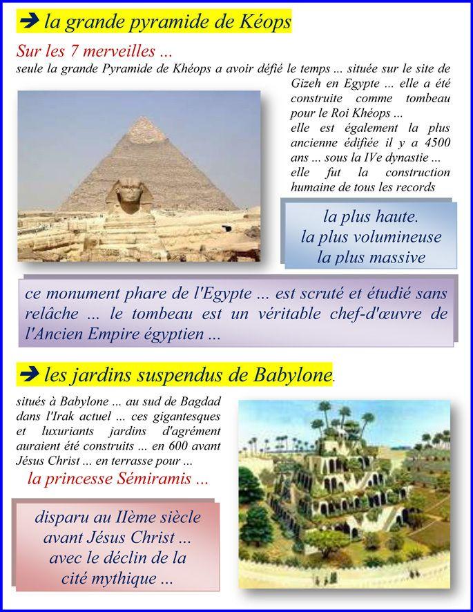 7 Merveille Du Monde Antique : merveille, monde, antique, Merveilles, Monde, Convergence, GuyTelh, Monde,, Grande, Pyramide