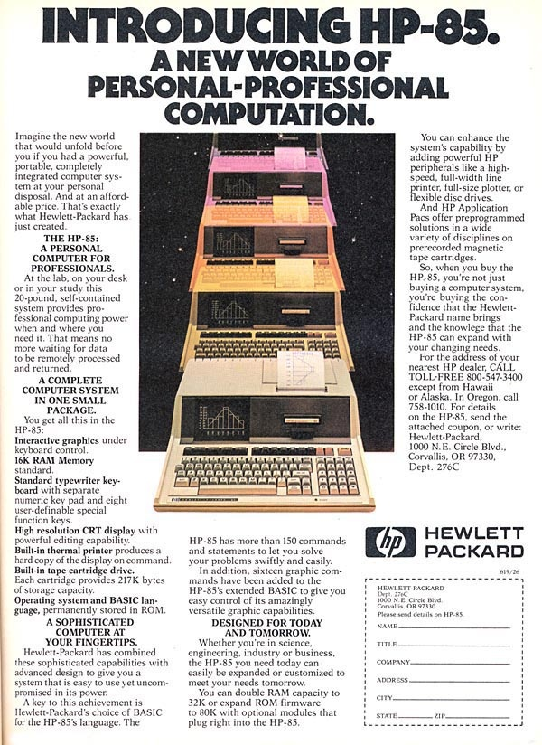 The History of Hewlett Packard Computers