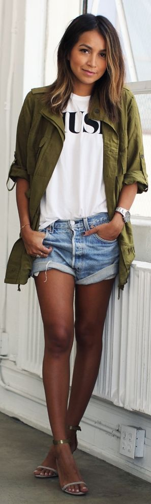 Khaki Relaxed Button Down by Sincerely Jules