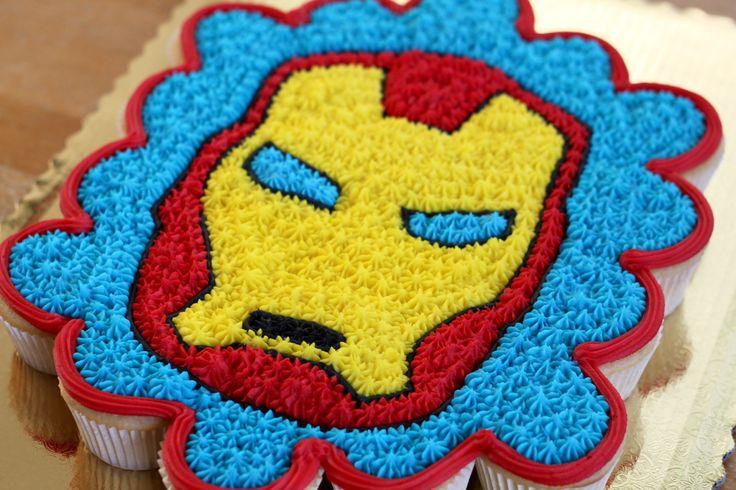 iron man pull apart cake