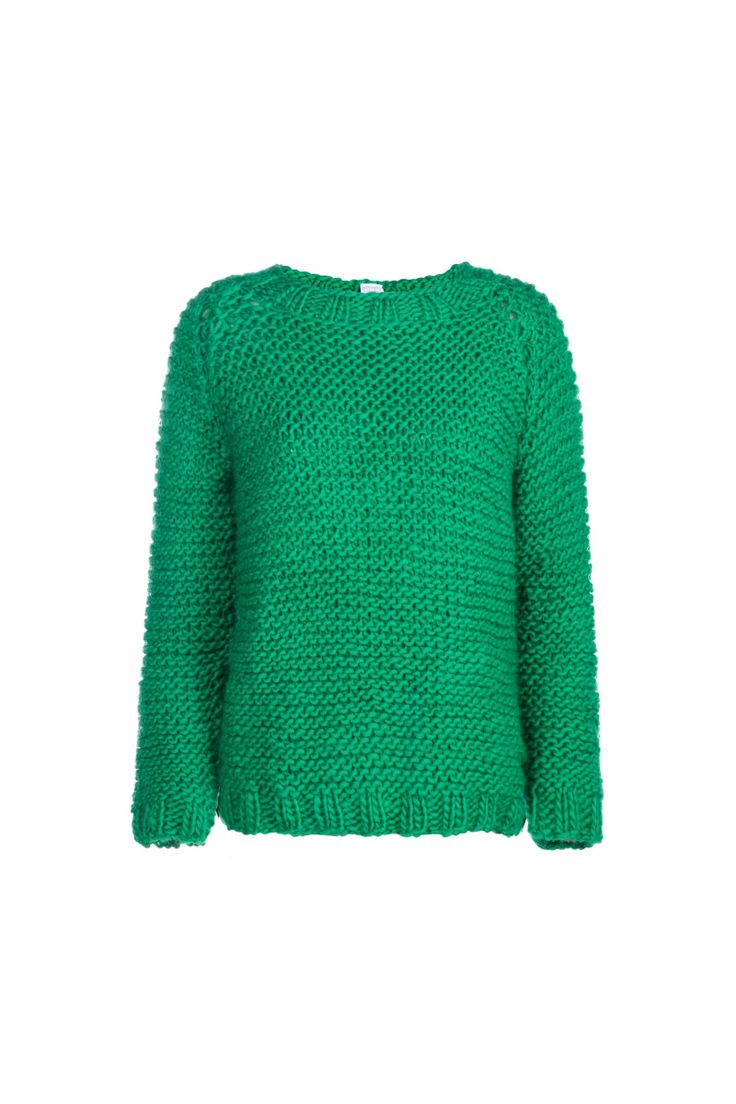 Anna Dudzińska, CONCRETE GREEN, aw2015, sweater DERY (green). To download high or low resolution product images view Mondrianista.com (editorial use only).