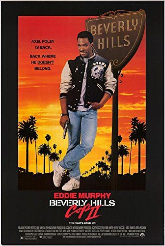 """Beverly Hills Cop II - Authentic Original 27"""" x 40"""" Movie Poster:   original; edge wear; rolled; single sided;"""