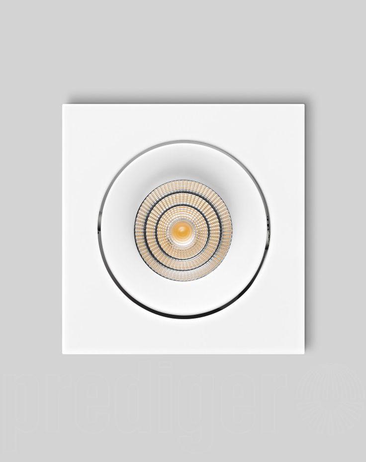 Prediger P.34.1 LED Deckeneinbauleuchten M Quadratisch Weiß