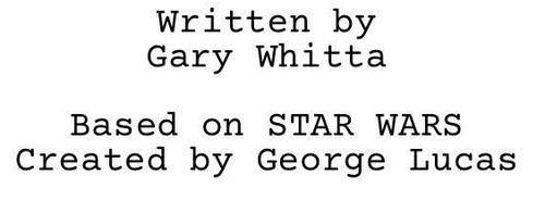 Bastion Polskich Fanów Star Wars > Gary Whitta skończył scenariusz?
