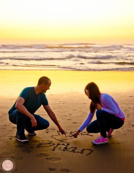 Such a cute photo idea - write names in sand (Captured Moments by Denise)
