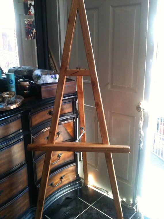 Handmade wooden easel..artists floor easel... by mundopintado