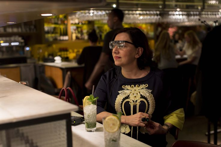 Each guests where asked to complete three task wearing the eye-tracking glasses.  1. having a drink at the bar by the open kitchen