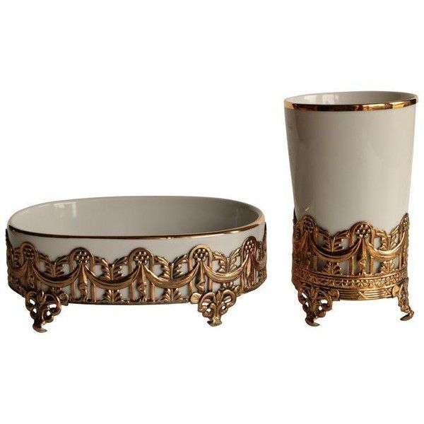 white and gold bathroom accessories. Stylebuilt Gold Filigree Vanity Cup and Soap Dish  85 liked on Polyvore featuring home bed bath accessories bathroom Best 25 ideas Pinterest Modern