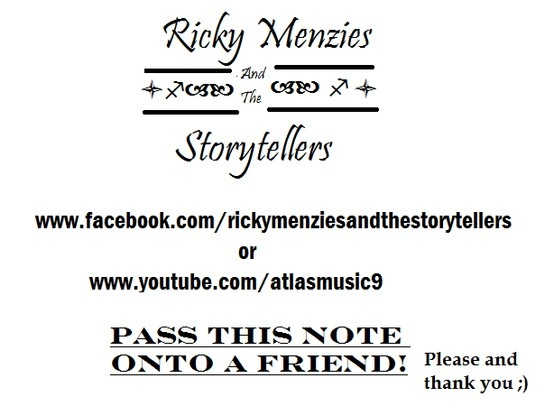 Ricky Menzies & The Storytellers  Acoustic, folk, country, punk musician from Milton Keynes.  https://www.facebook.com/RickyMenziesAndTheStorytellers