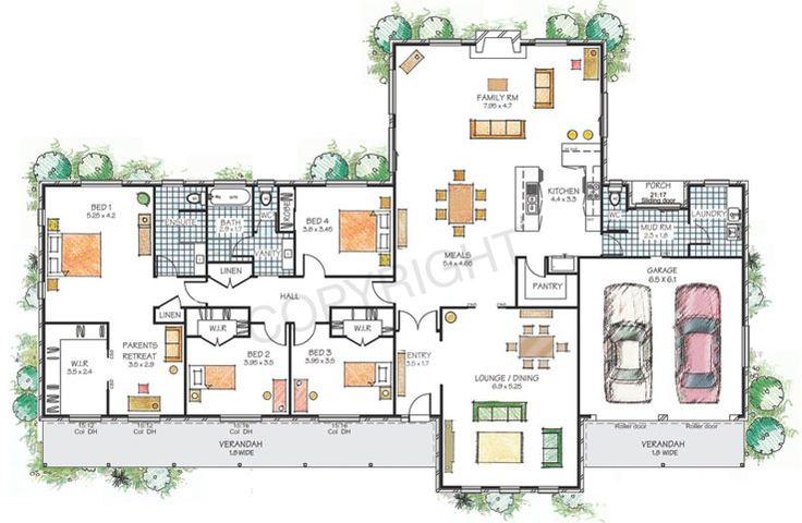 floor plans for large families | hartley paal kit homes floor plans and illustrations copyright paal ...