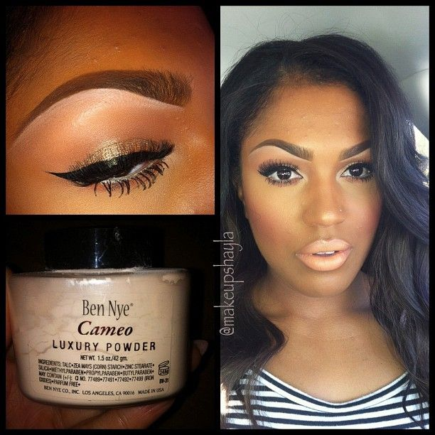 If banana powder is too yellow or dark, try Ben nye cameo powder. It's a great highlighter (not as yellow).