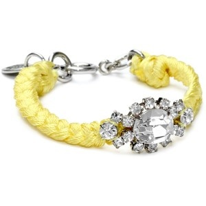 Juicy Couture Macrame and Squeezed Lemon Rhinestone Bracelet