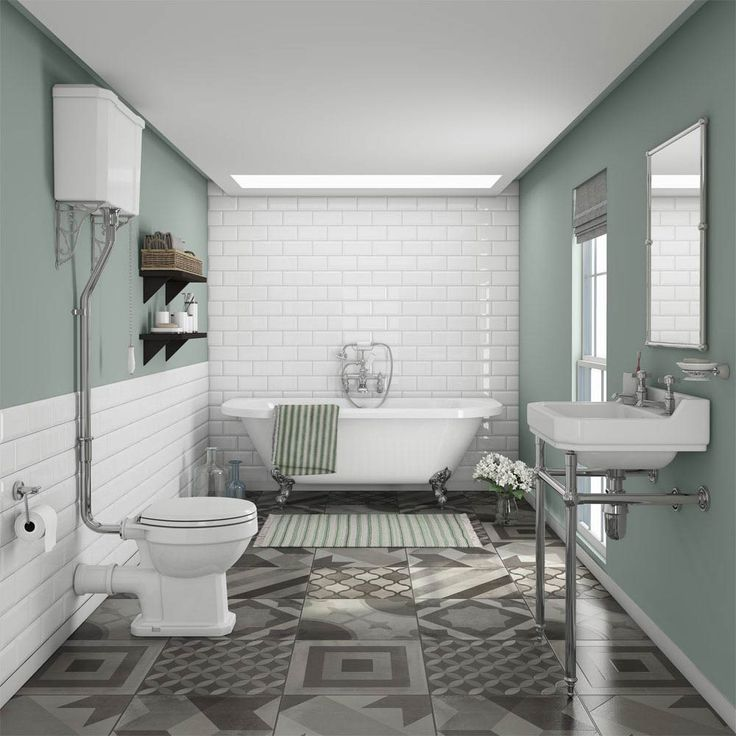 Newbury Traditional Back to Wall Roll Top Bath Suite. The 25  best Victorian bathroom ideas on Pinterest   Washroom