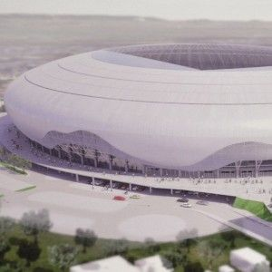 Work has begun on Romanian side CSU Craiova's new 40000-seat arena. Stadium to finish construction by November.