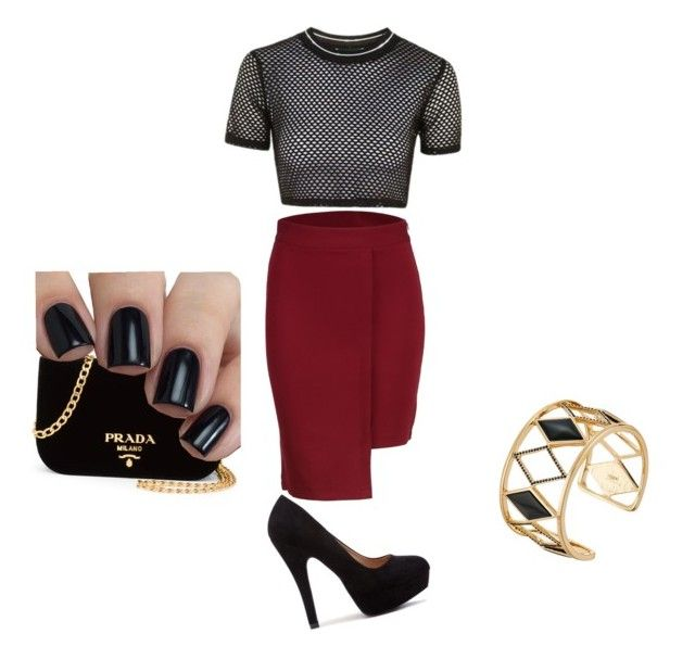 """""""Business"""" by jnbell on Polyvore featuring Topshop, Prada and Rebecca Minkoff"""