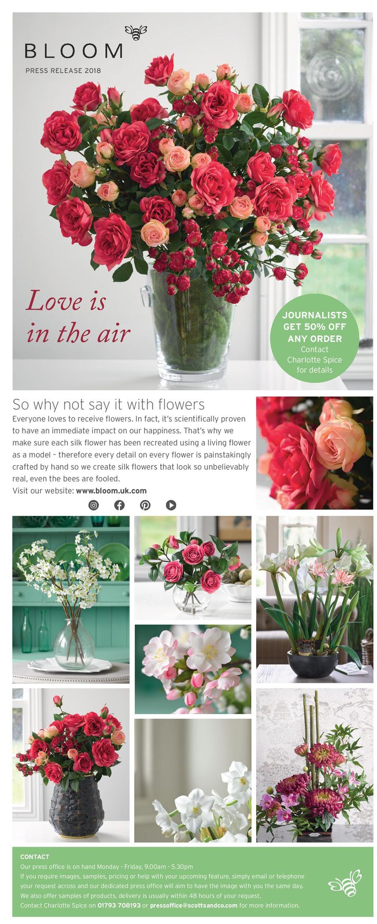 24 Best Bloom Silk Flowers In The Press Images On Pinterest