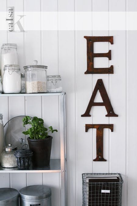rusty letters meet clean white ~