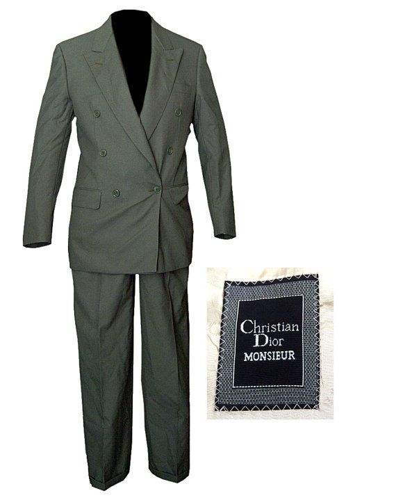 Mens Suit / Christian Dior Suit / Swing Suit / Rockabilly Suit