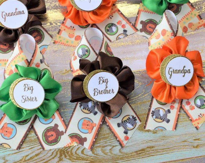 Safari Jungle Baby Shower Sash And Pin Set Jungle Safari Baby