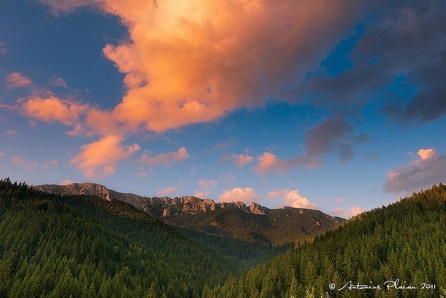"Harghita County - ""Hasmasul Mare"" Massif at sunset by Antonius Plaian, via Flickr"