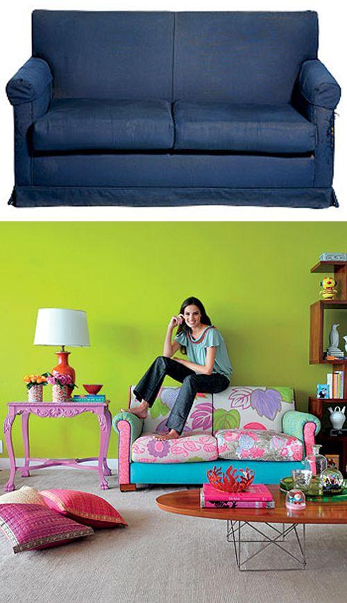 Sofá velho reformada com patchwork Inspiração Do Dia | - Página 24