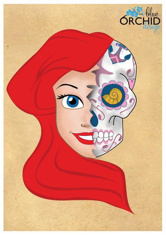 Sugar skull princesas pesquisa google imagens para for Princesas disney tattoo